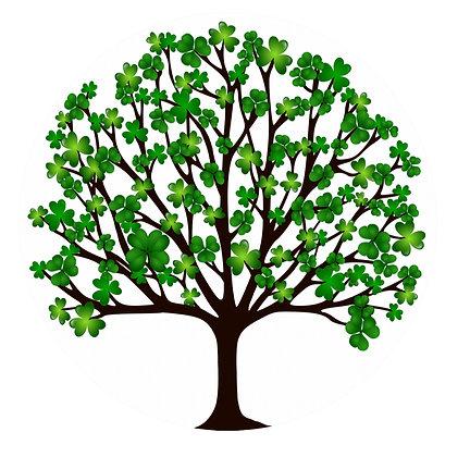 Screen Door Magnets - Shamrock Tree