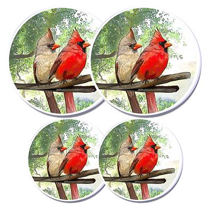Electric Stove Burner Covers - Cardinal