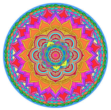Screen Door Magnets - Rainbow Mandala