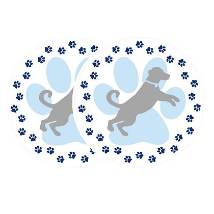 Retractable and ROLL UP Screen Door DECALS - Dog Paw