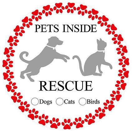 Glass Door Decals - Pet Rescue