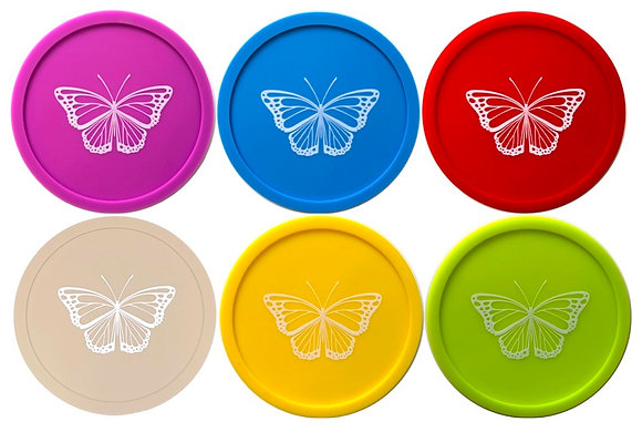 Wine Glass Covers -Set of 6 Butterfly