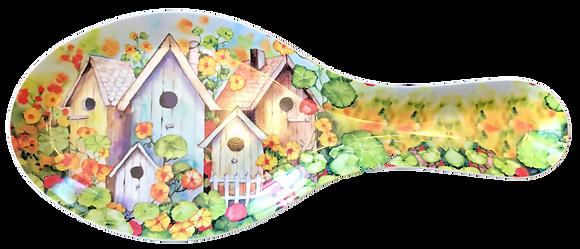 Birdhouses Spoon Rest