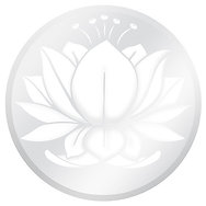 Glass Door Decals   White And Clear Water Lotus