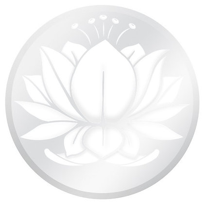 Glass Door Decals - White and Clear Water Lotus