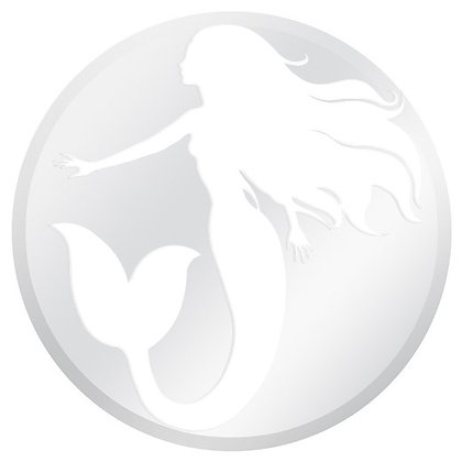Glass Door Decals - White and Clear Mermaid