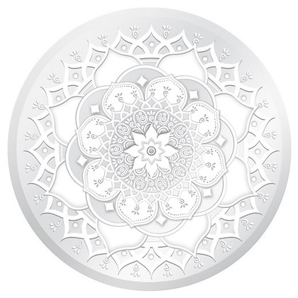 Glass Door Decals - White and Clear Mandala