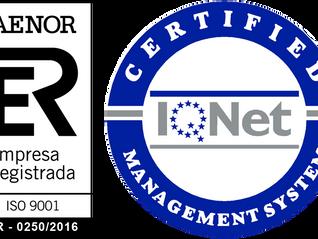 ALPE se certifica en ISO 9001:2008