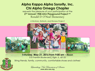 2nd Annual 1908 AKA Playground Project