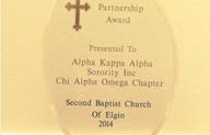 XAO Honored at 148th Anniversary of Second Baptist Church