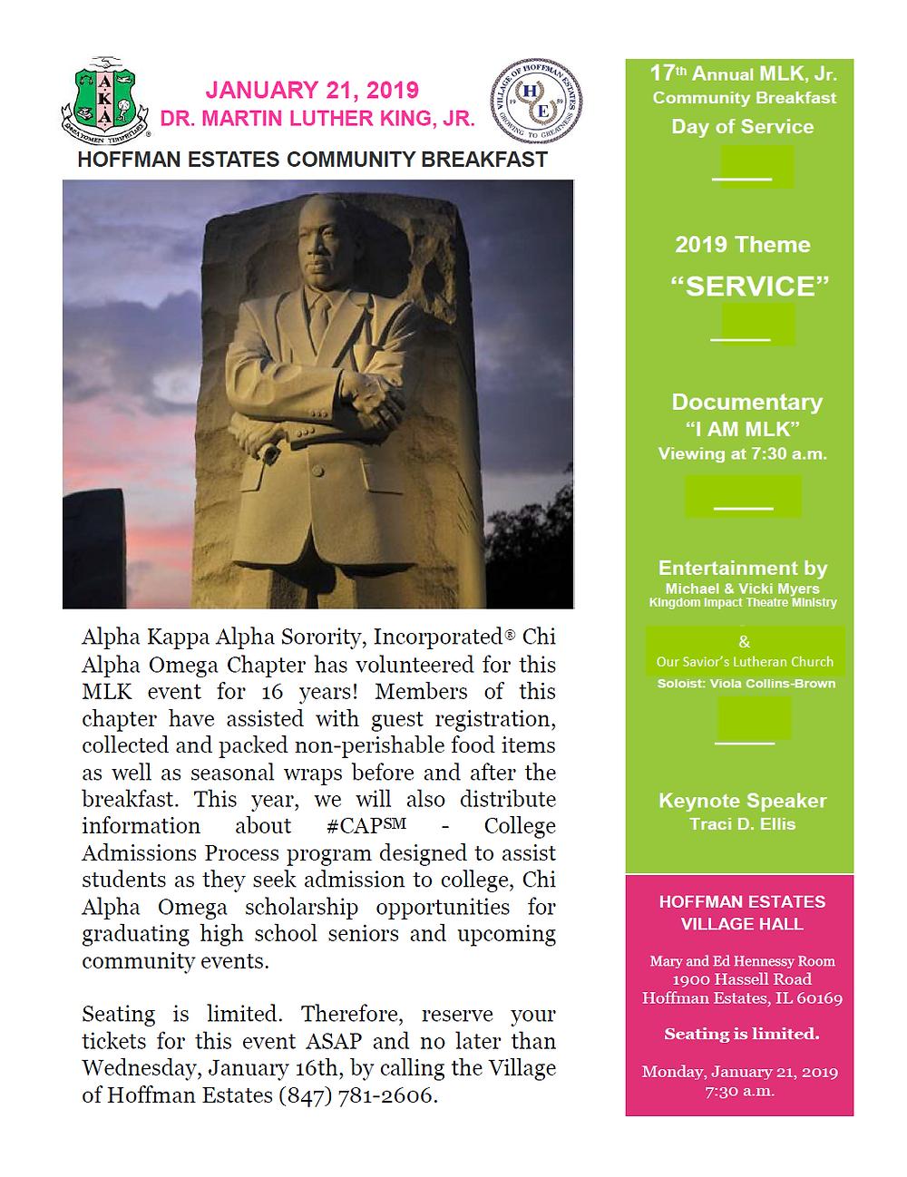 MLK Day of Service Flyer