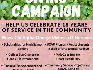 XAO Giving Campaign