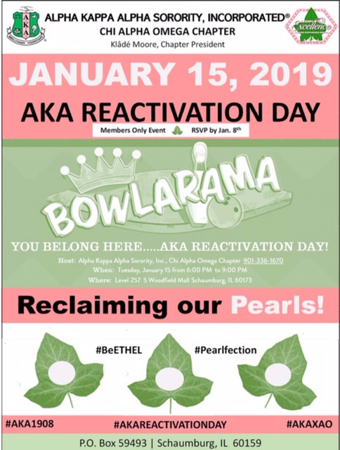 Join Chi Alpha Omega for an Alpha Kappa Alpha Sorority Inc *Members Only* event on January 15, 2019