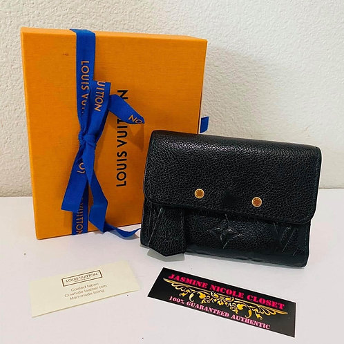 LV Empreinte Noir Zippy Tri Fold Wallet