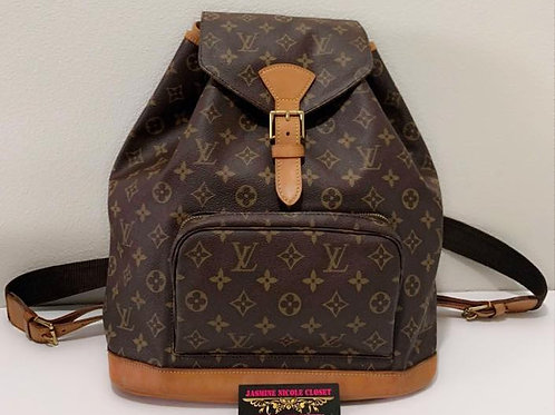 Pre Owned Rare Authentic LV Montsouris GM Backpack Bag