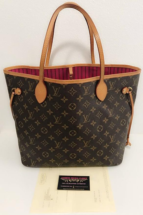 Pre Owned Authentic LV Neverfull MM Mono