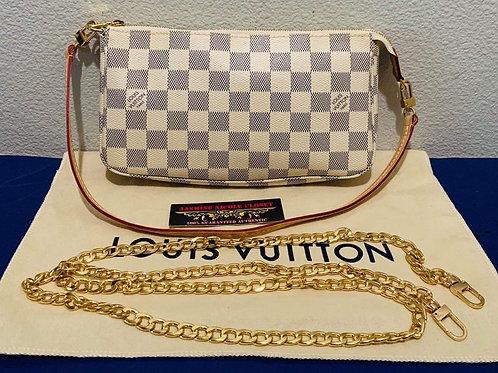 LV New Model Pochette accessories Azur