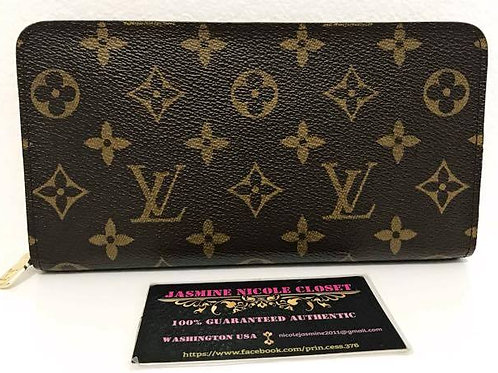 Excellent Used Condition Rare LV Zippy Porte Long Wallet Mono