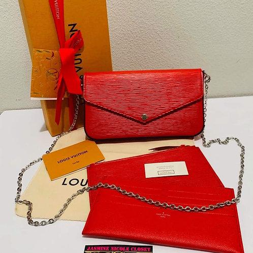 LV Felicie Red Crossbody Bag
