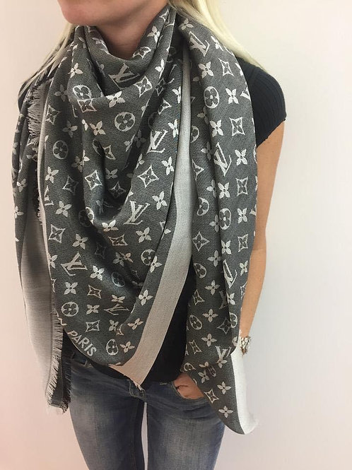 LV Shawl Black Denim