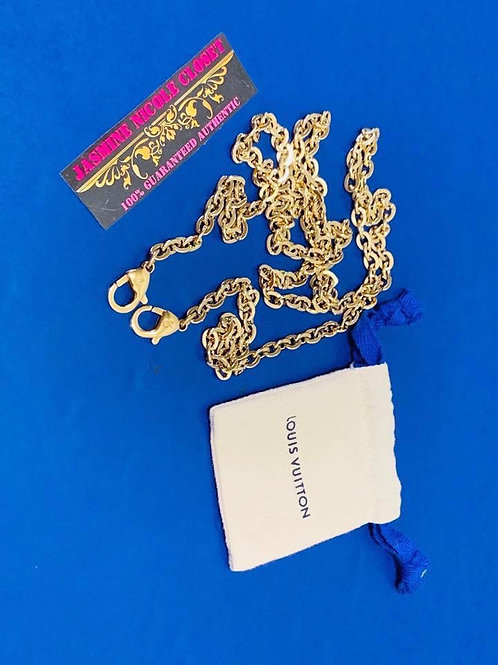 LV Long Strap Gold Chain 46 inches