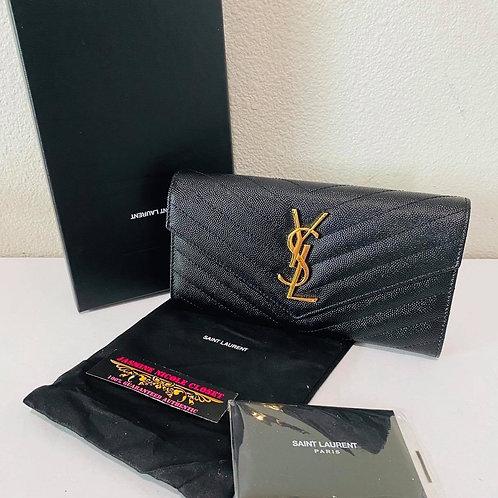 Brand New YSL Wallet Black