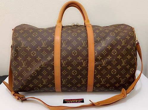 Pre Owned Rare Hard to Find Authentic LV Keepall 50 with Long strap