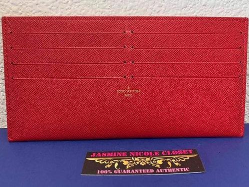 Brand New LV  Card Holder Red