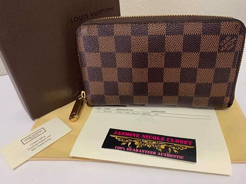 Pre Owned Rare Authentic LV Zippy Compact Wallet