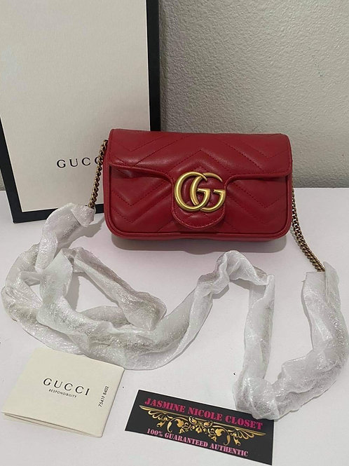 Brand New Gucci Super Mini Marmont Crossbody