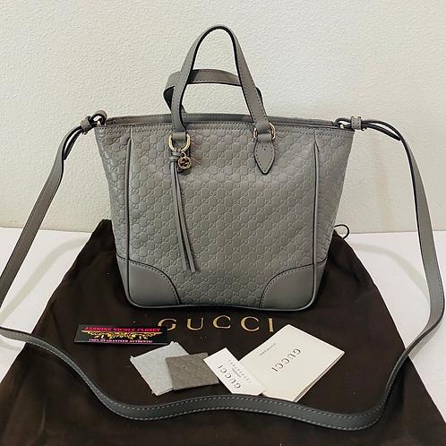 New Gucci Mini Tote Crossbody Bag Grey