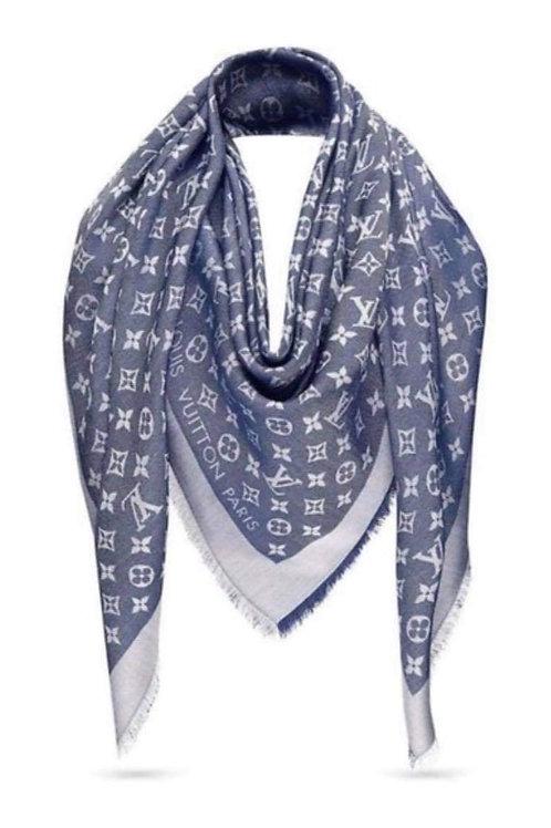 Brand New LV Shawl Blue Denim