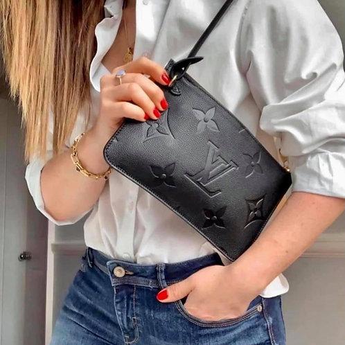 Brand New LV Neverfull Pouch Noir Black
