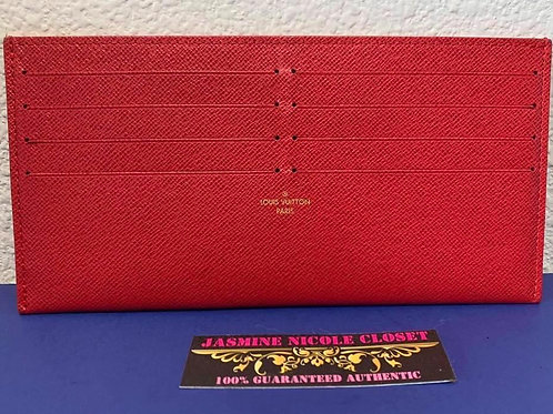 LV Card Holder Red