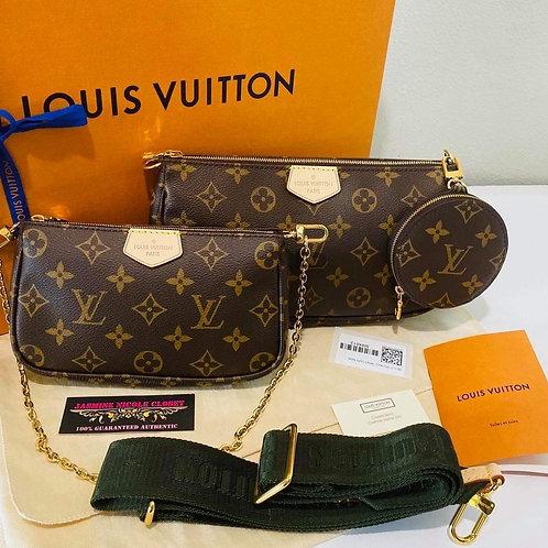 Brand New LV Multi Pochette Khaki