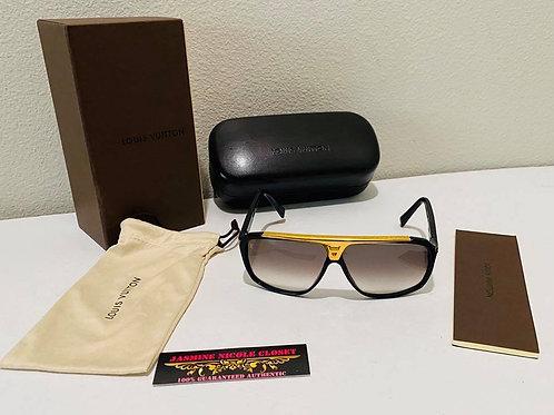 LV Unisex Acetate Evidence Sunglasses Black