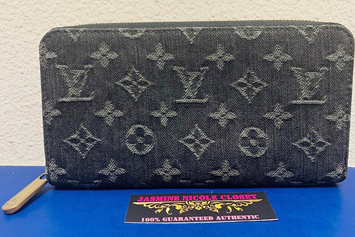 LV Zippy Denim Long Wallet