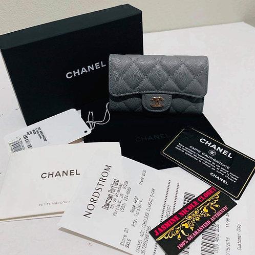 Chanel O-CARD HOLDER Grey