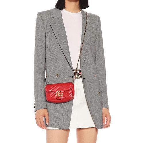 Brand New Gucci Super Mini Marmont Crossbody Bag