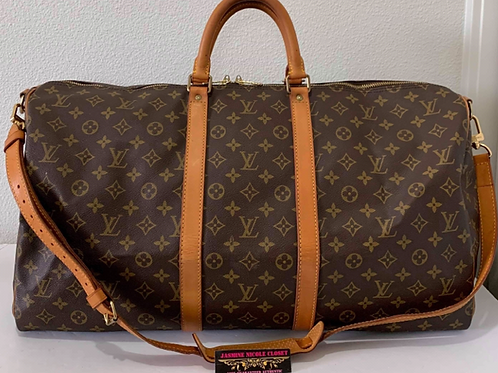 LV Keepall 55 with Long strap