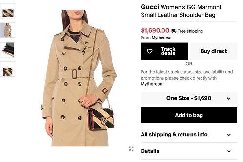 Brand New Gucci Marmont Bicolor