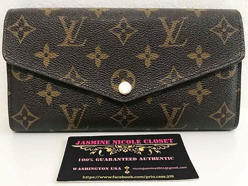 Pre Owned Authentic LV New Model Sarah Long Wallet with 16 CC slots