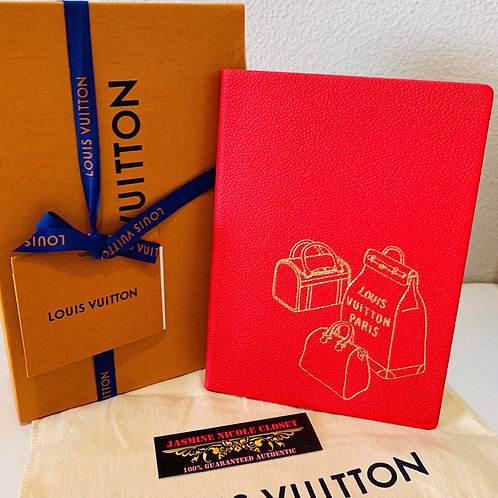 LV Notebook Red Collection