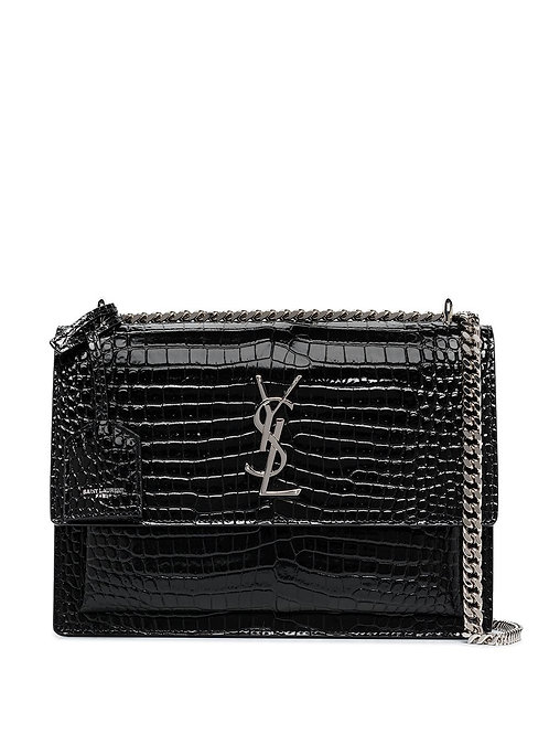 Brand New YSL Sunset Croc Crossbody Bag