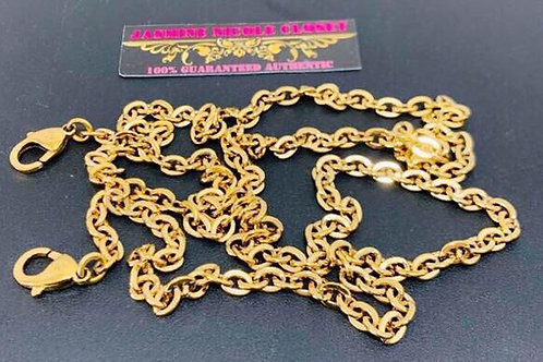 Excellent Condition Authentic LV Long Strap Gold Chain 46 inches