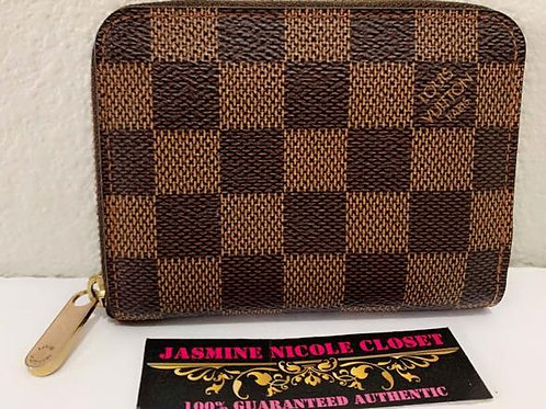 Pre Owned Authentic LV Zippy Coin Wallet Ebene