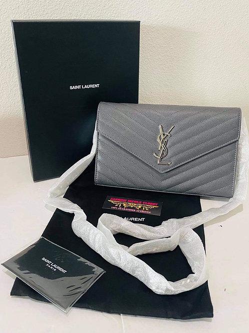 Brand New YSL WOC Crossbody Bag Grey
