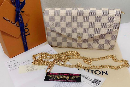 Brand New 2019 Authentic Rare hard to find LV Felicie Clutch Azur