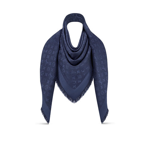 Brand New LV Shawl Monogram Blue