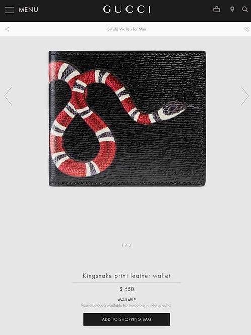 Gucci Men Wallet King Snake